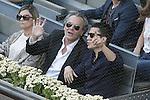Spanish actors Jose Coronado (l) and Alex Gonzalez during Madrid Open Tennis 2015 Final match.May, 10, 2015.(ALTERPHOTOS/Acero)