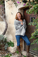 Chrissie Wellington poses for the photographer, St Paul de Vence, France, 23 January 2012