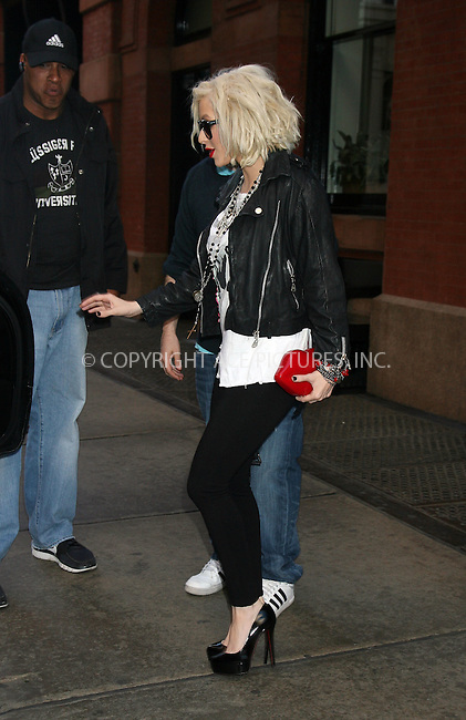 WWW.ACEPIXS.COM ************....May 6 2010, New York City....Singer Christina Aguilera leaving her Soho Hotel on May 6 2010 in New York City....Please byline: PHILIP VAUGHAN - ACEPIXS.COM.. *** ***  ..Ace Pictures, Inc:  ..tel: (646) 769 0430..e-mail: info@acepixs.com..web: http://www.acepixs.com