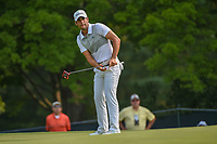 Adrian Otaegui (ESP) watches his putt on 5 during 4th round of the 100th PGA Championship at Bellerive Country Club, St. Louis, Missouri. 8/12/2018.<br /> Picture: Golffile   Ken Murray<br /> <br /> All photo usage must carry mandatory copyright credit (© Golffile   Ken Murray)