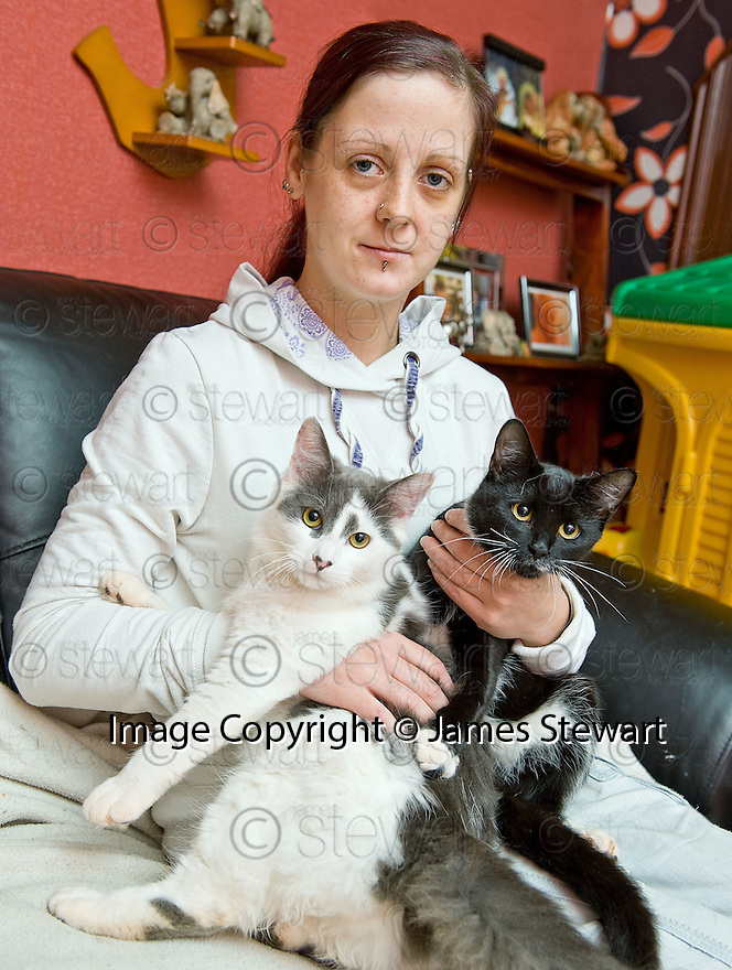 07/02/2011   Copyright  Pic : James Stewart.sct_jsp003_emma_robertson   .:: EMMA ROBERTSON FROM STENHOUSEMUIR WHO HAS DISCOVERED THAT TWO OF HER CATS HAD BEEN KILLED BY ANTI FREEZE :: (see copy from George Mair) ::.James Stewart Photography 19 Carronlea Drive, Falkirk. FK2 8DN      Vat Reg No. 607 6932 25.Telephone      : +44 (0)1324 570291 .Mobile              : +44 (0)7721 416997.E-mail  :  jim@jspa.co.uk.If you require further information then contact Jim Stewart on any of the numbers above........