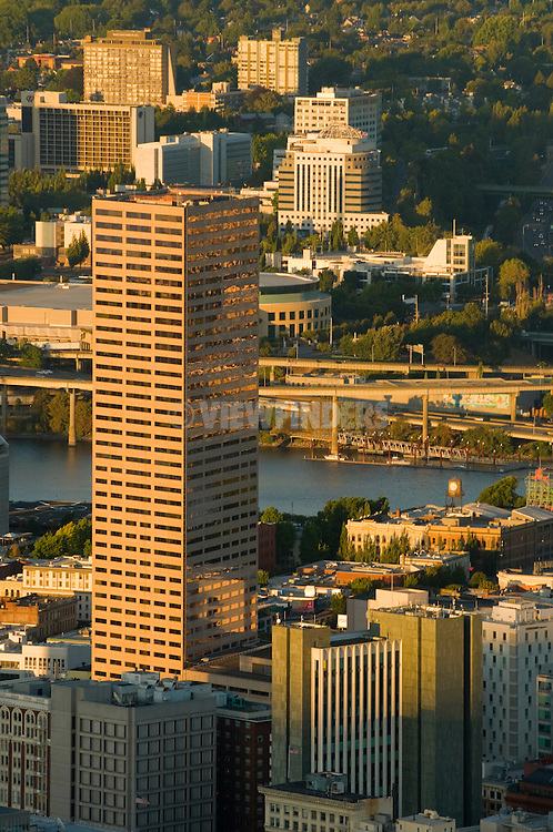 Aerial View of US Bank Building in Portland, Oregon