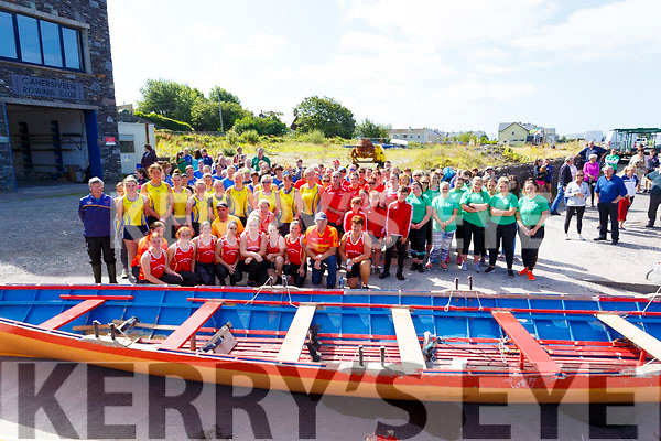 Six South Kerry Ladies crews took part in the Charity Race in Cahersiveen on Saturday in aid of Kerry 135 Group - Irish Pilgrimage Trust.
