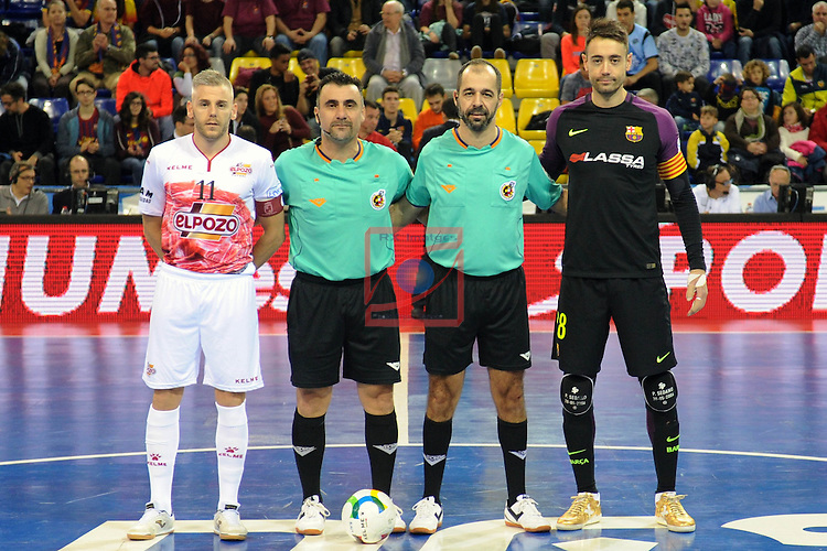 League LNFS 2016/2017 - Game 8.<br /> FC Barcelona Lassa vs ElPozo Murcia: 2-3.<br /> Miguelin Sayago &amp; Paco Sedano.