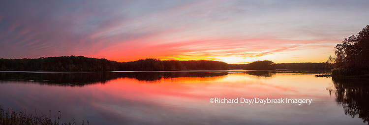 63893-02715 Sunset over lake at Stephen A. Forbes State Park,  Marion County, IL