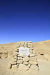 Israel, Eilat Mountains , a memorial to officer Yehiel Amsalem in Ma'ale Sayarim