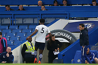 Tottenham Hotspur Captain, Christian Maghoma, heads to the dressing room after being shown a red card by referee, Mr Adrian Quelch during Chelsea Under-23 vs Tottenham Hotspur Under-23, Premier League 2 Football at Stamford Bridge on 13th April 2018