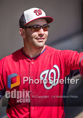 11 March 2014: Washington Nationals infielder Danny Espinosa smiles in the dugout prior to a Spring Training game against the New York Yankees at Space Coast Stadium in Viera, Florida. The Nationals defeated the Yankees 3-2 in Grapefruit League play. Mandatory Credit: Ed Wolfstein Photo *** RAW (NEF) Image File Available ***