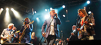 Photo by &copy; Stephen Daniels 13/06/2015-----<br /> Rock 'N' Horse Power Concert at Hurtwood Park Polo Club, Ewhurst, Surrey for Prostate Cancer UK. ----- L/R Jim Cregan, Geoff Whitehorn, Ben Mills, Mollie Marriott, Robert Hart, Kenney Jones, Nik Kershaw, John Parr