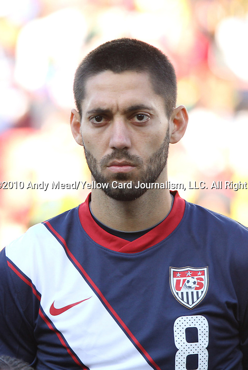 18 JUN 2010: Clint Dempsey (USA). The Slovenia National Team played the United States National Team to a 2-2 at Ellis Park Stadium in Johannesburg, South Africa in a 2010 FIFA World Cup Group C match.