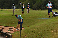 Seamus Power (IRL) hits from the rocks on 10 during round 4 of the 2019 Houston Open, Golf Club of Houston, Houston, Texas, USA. 10/13/2019.<br /> Picture Ken Murray / Golffile.ie<br /> <br /> All photo usage must carry mandatory copyright credit (© Golffile | Ken Murray)