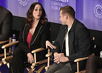 "HOLLYWOOD, CA - MARCH 17:  Jennifer Love Hewitt and Oliver Stack at PaleyFest 2019 - Fox's ""9-1-1"" panel at the Dolby Theatre on March 17, 2019 in Hollywood, California. (Photo by Scott Kirkland/Fox/PictureGroup)"