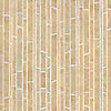 Bamboo, a hand-cut stone mosaic, shown in honed Ivory Cream and Jerusalem Gold is part of the Metamorphosis Collection by Sara Baldwin for New Ravenna Mosaics.