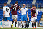St Johnstone v Hearts...03.08.14  Steven Anderson Testimonial<br /> Steven Anderson says thanks to Henderson<br /> Picture by Graeme Hart.<br /> Copyright Perthshire Picture Agency<br /> Tel: 01738 623350  Mobile: 07990 594431