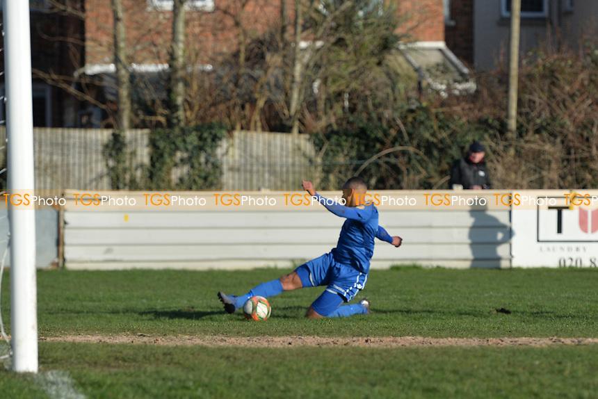 Callum Ibe of Walthamstow could convert during Walthamstow vs Sawbridgeworth Town, Essex Senior League Football at Wadham Lodge Sports Ground on 8th February 2020