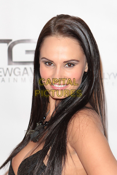 "KRISTEN DELUCCA.""Gridlock New Year's Eve Bash"" held at Paramount Studios, Hollywood, California, USA,  31st December 2009..NYE portrait headshot smiling cleavage.CAP/ADM/TC.©T. Conrad/AdMedia/Capital Pictures."