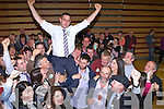 Johnny Healy Rae celebrates with his supporters after being elected just after midnight on Sunday morning