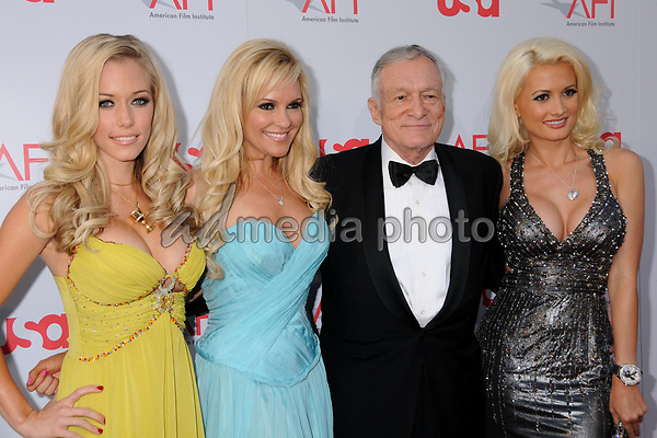 12 June 2008 - Hollywood, California - Kendra Wilkinson, Bridget Marquardt, Hugh Hefner and Holly Madison. 36th Annual AFI Life Achievement Award at the Kodak Theatre. Photo Credit: Byron Purvis/AdMedia