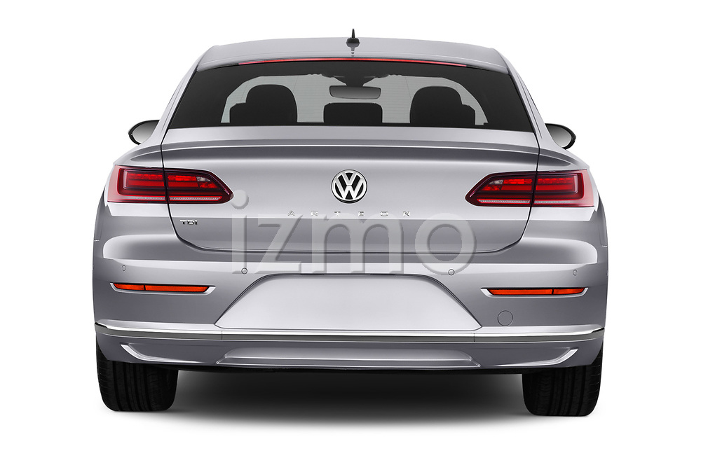 Straight rear view of 2018 Volkswagen Arteon Elegance 5 Door Hatchback Rear View  stock images