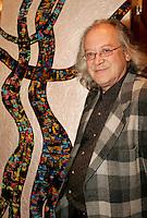 April 18 2006 Montreal (QC) CANADA<br /> Raoul Duguay et sa peinture<br /> lancement livre QUEBEC CHANTE