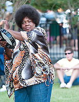 Tambourine Lady at the Magazine St. Blues Festival in 2010.