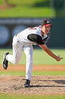 Starting pitcher Matt Heidenreich #51 of the Kannapolis Intimidators in action against the Lakewood BlueClaws at Fieldcrest Cannon Stadium on July 17, 2011 in Kannapolis, North Carolina.  The BlueClaws defeated the Intimidators 4-3.   (Brian Westerholt / Four Seam Images)