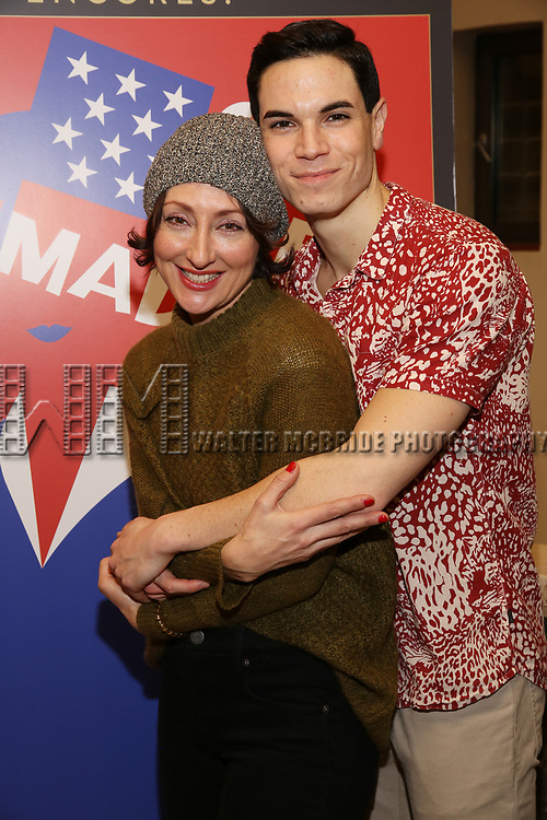 "Carmen Cusack and Jason Gotay attends the closing Night performance reception for Encores! ""Call Me Madam"" at City Center on February 10, 2019 in New York City."