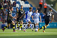 Courtney Senior of Colchester United finds a pass despite being surrounded by the visitors defence during Colchester United vs Crawley Town, Sky Bet EFL League 2 Football at the JobServe Community Stadium on 13th October 2018