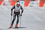 Daniele Serra in action at the sprint qualification of the FIS Cross Country Ski World Cup  in Dobbiaco, Toblach, on January 14, 2017. Credit: Pierre Teyssot