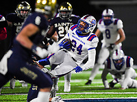 NWA Democrat-Gazette/CHARLIE KAIJO Arkadelphia High School running back Zion Hatley (24) carries the ball  during a Class 4A semi-final playoff football game, Saturday, December 1, 2018 at Champions Stadium at Shiloh Christian High School in Springdale.