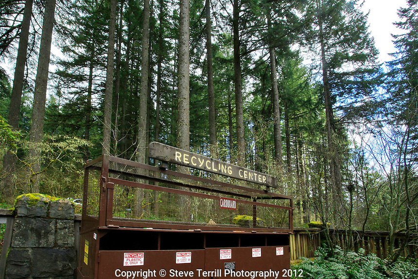 Recycling Center in Silver Falls State Park, Oregon