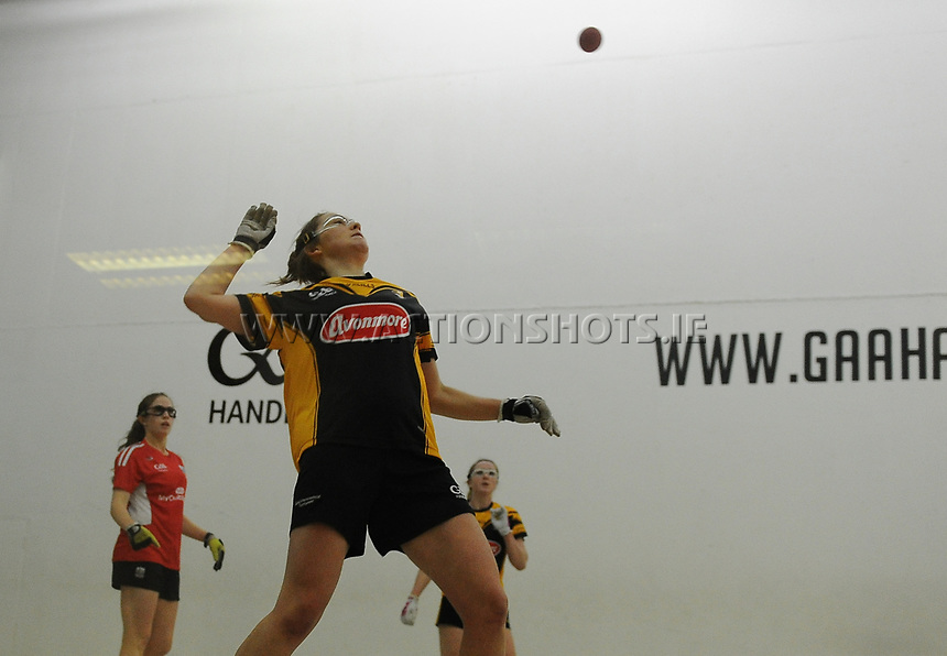 23/09/2017; Myclubshop.ie All-Ireland Handball 60x30 Championship, Ladies Senior Doubles Final, Catriona Casey and Aishling O'Keeffe (Cork) vs Ciara Mahon and Aoife Holden (Kilkenny); Croke Park Handball Center, Dublin;<br /> Ciara Mahon, Kilkenny<br /> Photo Credit: actionshots.ie/Tommy Grealy