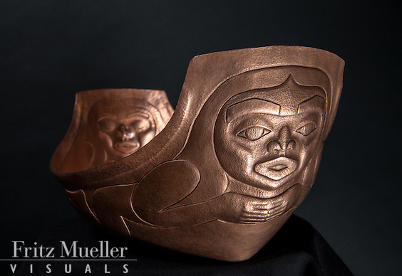 copper sculptures by Brian Walker, Yukon artist, Whitehorse, 2015