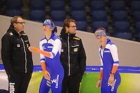 SCHAATSEN: HEERENVEEN: 30-10-2014, IJsstadion Thialf, Topsporttraining, Margot Boer, Ireen Wüst, ©foto Martin de Jong