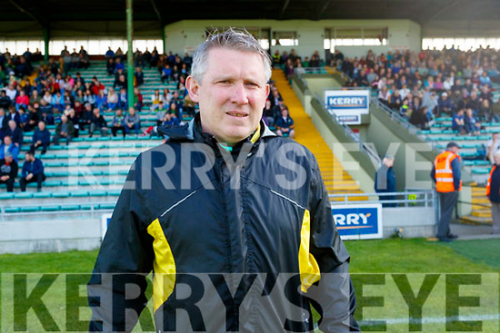 Lixnaw trainer Mark Foley before the Senior Kerry County Hurling Semi Finals between Lixnaw v Kilmoyley at Austin Stack park on Saturday last.