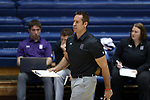 DURHAM, NC - SEPTEMBER 01: Northwestern assistant coach Kevin Moore. The Northwestern University Wildcats played the University of South Carolina Gamecocks on September 1, 2017 at Cameron Indoor Stadium in Durham, NC in a Division I women's college volleyball match. Northwestern won 3-1 (13-25, 25-18, 25-18, 25-19).