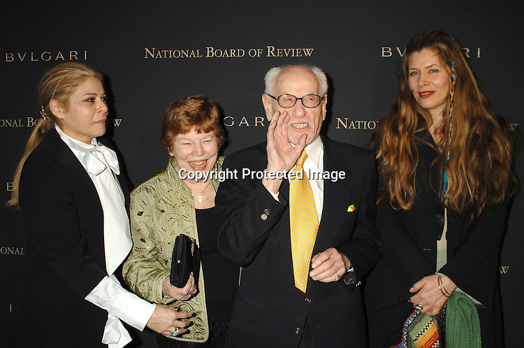 Roberta Wallach, Anne Jackson and Eli Wallach and daughter Katherine..arriving at The 2006 National Board of Review of Motion..Pictures Awards on January 9, 2007 at Cipriani 42nd Street. ..The event was sponsored by Bulgari...Robin Platzer, Twin Images
