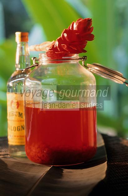 """Europe/France/DOM/Antilles/Petites Antilles/Guadeloupe/Petit-Bourg : Domaine de Valombreuse - Restaurant """"Pipirite"""" - Rhum gria"""