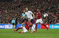 England's Harry Kane with a second half shot<br /> <br /> Photographer Rob Newell/CameraSport<br /> <br /> UEFA Euro 2020 Qualifying round - Group A - England v Czech Republic - Friday 22nd March 2019 - Wembley Stadium - London<br /> <br /> World Copyright © 2019 CameraSport. All rights reserved. 43 Linden Ave. Countesthorpe. Leicester. England. LE8 5PG - Tel: +44 (0) 116 277 4147 - admin@camerasport.com - www.camerasport.com