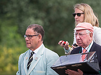 Henley Royal Regatta, Henley on Thames, Oxfordshire, 28 June - 2 July 2017.  Friday  10:06:20   30/06/2017  [Mandatory Credit/Intersport Images]<br /> <br /> Rowing, Henley Reach, Henley Royal Regatta.<br /> <br /> Official Timekeepers on the back of the umpires launch