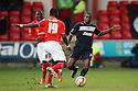 Abdul Osman of Crewe tackles Anthony Grant of Stevenage. Crewe Alexandra v Stevenage - npower League 1 - The Alexandra Stadium, Gresty Road, Crewe - 5th January, 2013. © Kevin Coleman 2013.