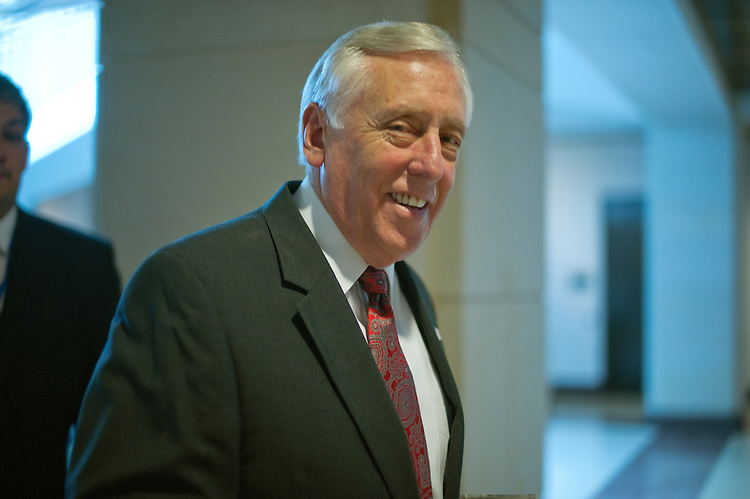 UNITED STATES - JULY 28: Steny Hoyer, D-MD., makes his way to the House Democratic Caucus closed meeting in the U.S. Capitol on party matters. July 28, 2011. (Photo By Douglas Graham/Roll Call)