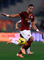Calcio, quarti di finale di Coppa Italia: Roma vs Juventus. Roma, stadio Olimpico, 21 gennaio 2014.<br /> AS Roma defender Mehdi Benatia, of Morocco, in action during the Italian Cup round of eight final football match between AS Roma and Juventus, at Rome's Olympic stadium, 21 January 2014.<br /> UPDATE IMAGES PRESS/Isabella Bonotto