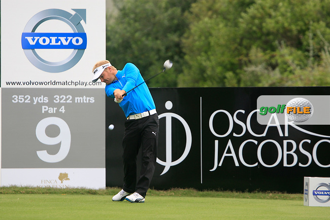 Soren Kjeldsen (DEN) tees off at the 9th tee during Day 2 of the Volvo World Match Play Championship in Finca Cortesin, Casares, Spain, 20th May 2011. (Photo Eoin Clarke/Golffile 2011)
