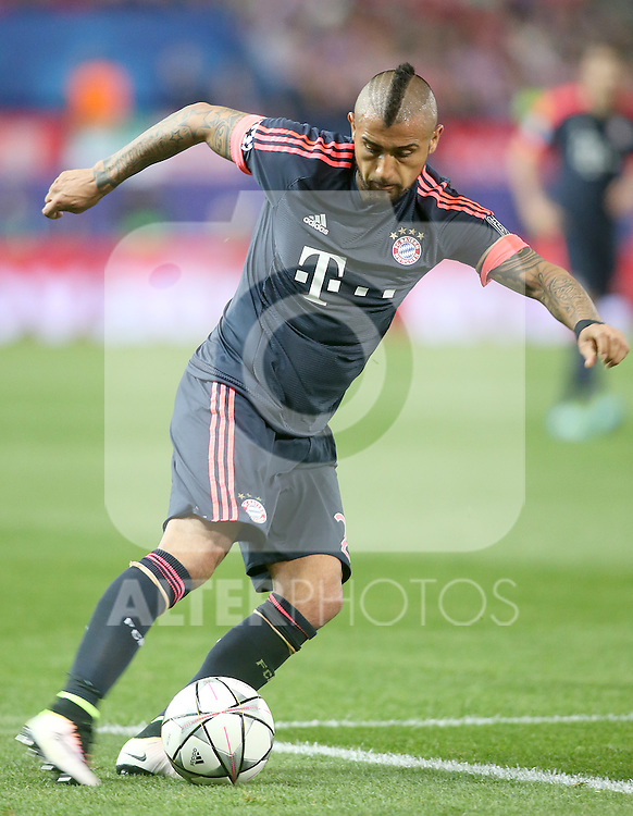 FC Bayern Munchen's Arturo Vidal during Champions League 2015/2016 Semi-Finals 1st leg match. April 27,2016. (ALTERPHOTOS/Acero)