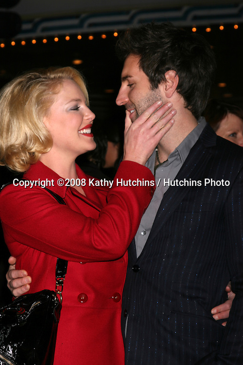 "Katherine Heigl & Josh Kelley arriving at the ""Marley & Me"" World Premiere at the Mann's Village Theater  in Westwood, CA  on December 11, 2008.©2008 Kathy Hutchins / Hutchins Photo....                ."