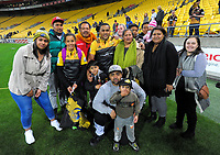 Ngani Laumape with his family after the Super Rugby match between the Hurricanes and Chiefs at Westpac Stadium in Wellington, New Zealand on Friday, 9 June 2017. Photo: Dave Lintott / lintottphoto.co.nz