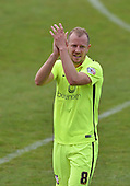 07/05/2016 Sky Bet League Two Morecambe v York City<br /> Luke Summerfield applauds the York City fans