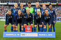 USWNT vs England, March 02, 2019