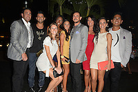 MIAMI BEACH, FL - MAY 22: David Turetsky, Eyal Vick, Denia Hall, Victoria Serra, Karina d'Erizans, Nathan Lieberman, Stephanie Andron, Nancy Sayegh and Kris Andres attend The Catalina reality show premiere party at Catalina Hotel on May 22, 2012 in Miami Beach, Florida. (photo by: MPI10/MediaPunch Inc.)